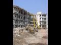 Průmyslové demoliční a trhací práce - demolice komínů