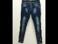 Eshop extravagantní džíny s kamínky, se sníženým sedem, skinny jeans Ostrava