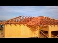Dřevěné příhradové vazníky, střešní dřevěné konstrukce