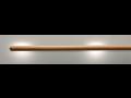 Drevené madlá z masívneho dreva s osvetlením