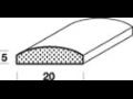 Profilové lišty z masívneho dreva