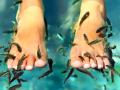 Rybky rybičky Garra rufa, rybí pedikúra, péče o nohy, okusování, liberec