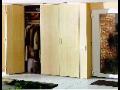 Dveře do šatních skříní, vestavěná šatní skříň s posuvnými dveřmi, montáž a výroba