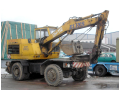 Zemní a výkopové práce, demolice a bourací práce kolovým bagrem DH 112