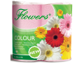 Toaletn� pap�r Flowers Color 200x4,2-vrstv�