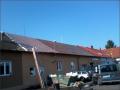 Rekonstrukce �ikm�, ploch� st�echy-plechov� krytina P�erov, Krom���