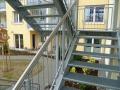 Výroba a montáž lisovaného ocelového schodiště, schodišťové stupně, dodávka, Znojmo