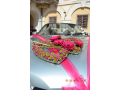 zdoben� auta na svatbu Krom���