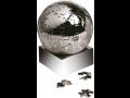 Kancelářské těžítko kovové, globus