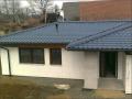 nová šikmá střecha z plechové krytiny