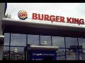 Burger King neonová světelná reklama
