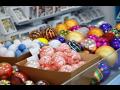 Prodejna vánočních ozdoby - baňky, figurky, dekorace