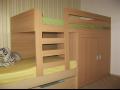 Dětský nábytek na míru-vestavěné skříně, postele, stoly