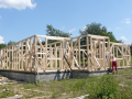 Sendvičová konstrukce dřevostaveb