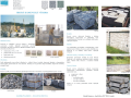Pflastersteine, Pflastermosaik, slesischer Granit, Granitsteine