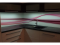 Skleněné obklady akce - skla s grafikou, výroba, montáž, dekorované sklo