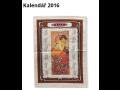 Textilní kalendář - utěrka, hezká dekorace pro Váš útulný domov