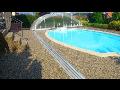 Povrchové úpravy teras, kolem bazénů - exteriérový kamenný koberec