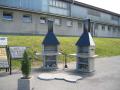 Zahradní krby z betonu, umělého kamene