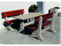 Zahradní lavičky z betonu, umělého kamene