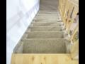 Pokládka koberce i po schodišti