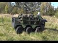 ysoce automatizovaného kolový robot pro armádu