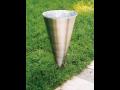 nerezový odpadkový koš kuželovitého tvaru - Cornet