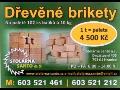 Dřevěné lisované brikety do kamen, kotlů i krbů - výroba, prodej