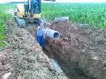 Výkopové a zemní práce, výstavba inženýrských sítí, stavební práce, Dačice