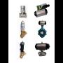 Pneumaticky ovládané sedlové, kulové ventily a klapky z kvalitních materiálů