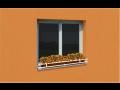 Okenní zahrádka, držák květinového truhlíku, prodej, montáž bez vrtání, e-shop