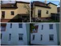 Údržba budov ve výškách-čištění fasádních obkladů, hliníkové fasády, omítky