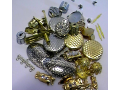 Semi-finished products for costume jewellery, metal parts for artificial jewellery.