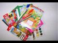 Kompletní výbava školních potřeb pro školáky -  penály, složky a obaly, sešity