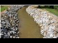Budov�n� protipovod�ov� ochrany-zpevn�n� b�eh�, �pravy koryt vodn�ch tok�