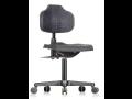 Kvalitní pracovní židle nejen pro průmysl - rychlé a snadné nastavení sedáku i opěradla