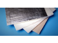 Lamination of mattings from nonwoven cloth, coating the surface of glass fiber mattings with aluminum foil, the Czech Republic