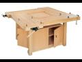 Dřevěné dílenské pracovní stoly, hoblice a ponky pro truhlářské dílny, školy i firmy