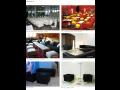 Stoly, židle, sedačky, bary k pronájmu