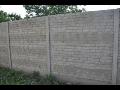 Doppelseitige Betonzäune, Betonumzäunung, Betonprodukte, Pohorelice, Tschechien