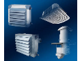 Air conditioning, dehumidifying, heating units, ventilators, ventilating fans.