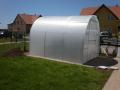 Smontovaný skleník z polykarbonátu-lehký a snadno přenosný