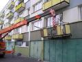 Rekonstrukce sanace panelových domů balkónů lodžií Náchod Hradec