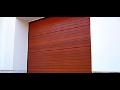 Sekční garážová vrata z lepeného dřeva pro elegantní vzhled vašeho domu