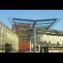 Montáž - prosklené vlakové a autobusové terminály, skleněné koridory