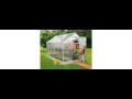 Prodej skleníky z hliníkových profilů a polykarbonátového skla se základnou zdarma