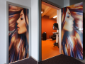 Stylish all-glass, glazed doors with digital printing - Czech Republic