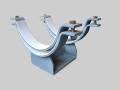 speciální uložení pro vysoké či nízké teploty potrubí