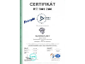 Certifik�t ISO 9001