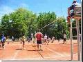 Obec Lejšovka, sportovní areál s antukou na volejbal, tenis